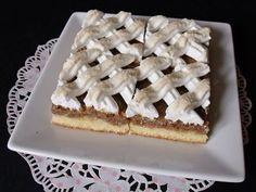 Citromhab: Habos diós sütemény Hungarian Cake, Hungarian Recipes, Poppy Cake, Walnut Cake, Strudel, International Recipes, Biscotti, Nutella, Deserts