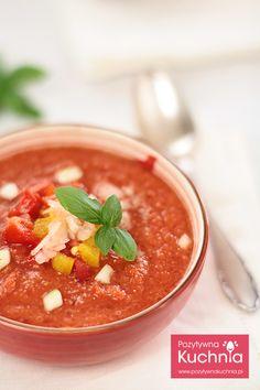 Chłodnik gazpacho - #przepis na #obiad czyli #chlodnik #gazpacho z pomidorów i papryki  http://pozytywnakuchnia.pl/gazpacho/  #pomidory #papryka #kuchnia