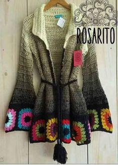 Crochet Hooded Baby Cardigan Making - Sevdiğim Örgüler - Sweaters Gilet Crochet, Crochet Baby Cardigan, Crochet Coat, Crochet Jacket, Crochet Shawl, Crochet Clothes, Moda Crochet, Crochet Granny, Crochet Slippers