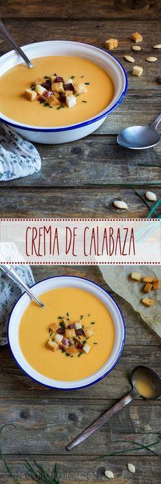 :) Crema de calabaza | Más en https://lomejordelaweb.es