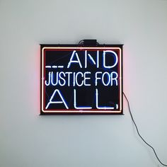 ... And justice for all.