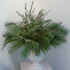 Quick & Easy Winter Evergreen Floral Arrangement ~ Free Craft Project