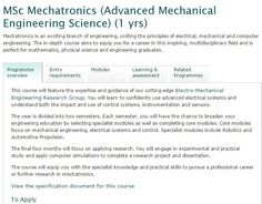 MSc Mechatronics (Advanced Mechanical Engineering Science) | Engineering and the Environment | University of Southampton