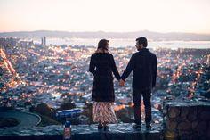 Sunrise engagement shoot, twin peaks engagement shoot San Francisco, Evangeline Lane photography