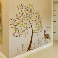 Color secret tree wall stickers wholesale cartoon TV setting wall stickers to decorate sitting room sofa♦️ SMS - F A S H I O N 💢👉🏿 http://www.sms.hr/products/color-secret-tree-wall-stickers-wholesale-cartoon-tv-setting-wall-stickers-to-decorate-sitting-room-sofa/ US $4.70