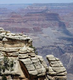 Little red dot against the Grand Canyon .Photo #7 by Eva Prokop