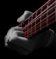 red guitar strings. #music #guitar #strings http://www.pinterest.com/TheHitman14/music-pictured-%2B/