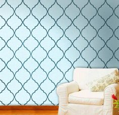 Reusable Moroccan Wall Stencil Marrakech Trellis by DecorZe