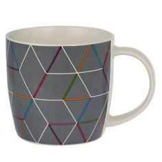 Buy House by John Lewis Geometric Mug, Grey Online at johnlewis.com
