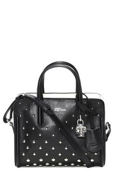 Alexander McQueen 'Mini Padlock' Studded Leather Duffel Bag available at #Nordstrom