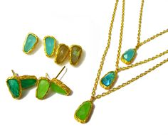 Colourful Gemstones Earrings and Necklaces by OMG