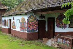 Resultado de imagem para zalipie poland painted village