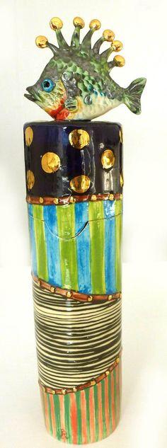 Fish Box by Julia Roxburgh from Oriel Y Felin Art Gallery