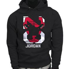 Chicago Bulls Polka Michael Jordan 23 Womens Charcoal Hoodie