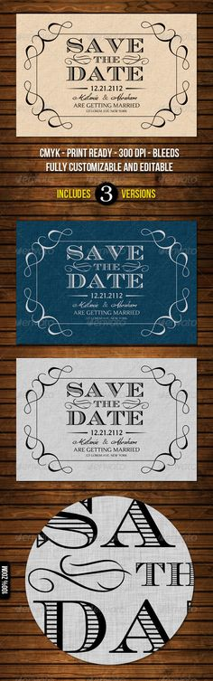 Old Vintage Save The Date Cards $6