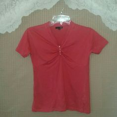 Coral blouse Preloved / in excellent condition H&M Tops Blouses