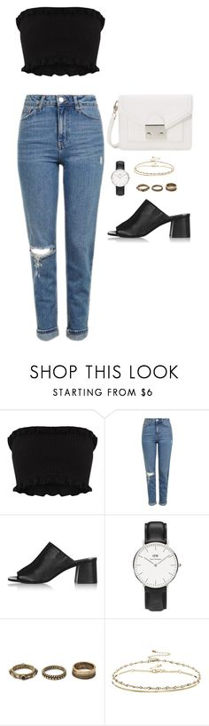 """Untitled #522"" by marta-andrade ❤ liked on Polyvore featuring Topshop, Daniel Wellington, Forever 21, ASOS and Loeffler Randall"