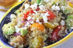 California Quinoa Greek Salad from @Liv Life http://www.yummly.com/recipe/California-Quinoa-Greek-Salad-518127
