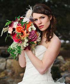 Bare Root Flora in Denver, Colorado, Robyn Rissman sent her bouquet of amaryllis, ranunculus, clematis, cheerfulness narcissus, Free Spirit roses, garden roses, hyacinth, pieris japonica, dahlia, carnations, viburnum berry and jasmine vine. This bouquet sells for 375.