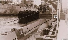 U 1171 type Commissioning day March 1944 German Submarines, Naval History, Battleship, Ww2, Danzig, Military, Airplanes, Boats, Ships