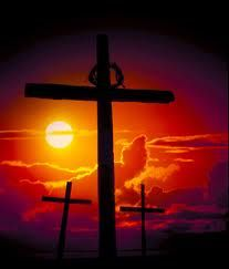 cross in the sunset
