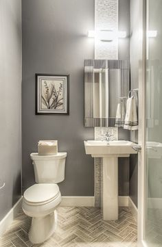 Perfect Modern Powder Room With Majestic Mirror Contemporary Rectangular Wall  Mirror, Powder Room, Ceramic Tile