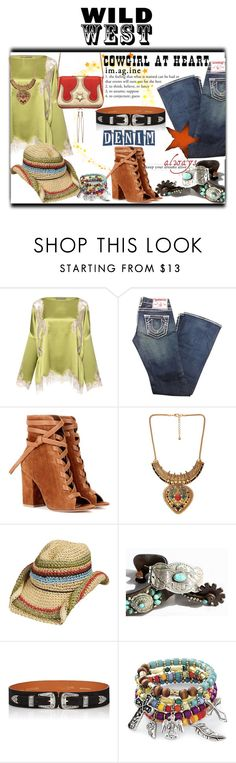"""Wild West Style"" by slynne-messer ❤ liked on Polyvore featuring Alberta Ferretti, True Religion, Gianvito Rossi, Forever 21, Maison Boinet and The Volon"