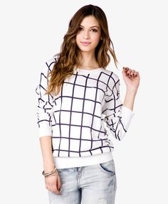 Grid Pattern Sweater | FOREVER21 - 2043859507