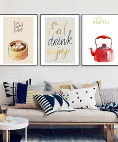 Abstract Home Decoration Posters Chinese Restaurant Dumplings Foods Hd Print Canvas Painting Wall Art Picture for Kitchen Room Kitchen Pictures, Living Room Pictures, Wall Art Pictures, Colorful Restaurant, Chinese Restaurant, Art Restaurant, Art Pour Salon, Kitchen Posters, Kitchen Wall Art