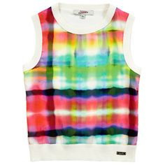 Junior Gaultier - Multicoloured polyester and pima cotton top (162192) - 65662