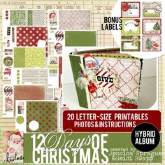Create a gorgeous 20-page 8x8 interactive hybrid album in an evening with our Holiday Album Kit designed by Heidi Swapp!