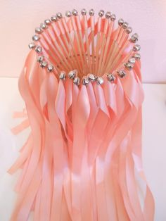Wedding ribbon Wands- party streamers - 100 single ribbon wands with bells. $115.00, via Etsy.