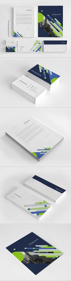 Bright Modern Stationery Pack. Download here: http://graphicriver.net/item/bright-modern-stationery-pack/7596124?ref=abradesign #design #stationery