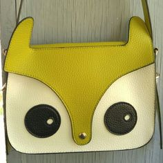 Cute Owl face crossbody bag bird fox long strap Super cute cross body bag New with tags Owl face in colors of grass green, creamy white, and black. Made of vegan friendly Faux leather Foldover top with snap closure Includes 2 straps long (pictured) and shorter strap (not pictured) Clean inside and out in new condition From a smoke free home  POSHDKAREN Bags Crossbody Bags