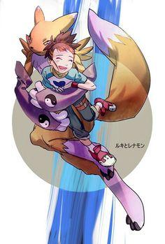 Renamon & Rika