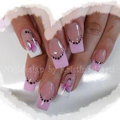 www.nailsfinder.com Nails, Nailart, Naildesign Fancy Nails, Bling Nails, Cute Nail Designs, Acrylic Nail Designs, Acrylic Nails, Feather Nails, French Nail Art, Spring Nail Art, Great Nails