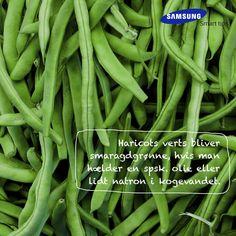 Haricots verts bliver smaragdgrønne, hvis man hælder en spsk. olie eller lidt natron i kogevandet. Et smart tips fra det danske kokkelandslaget #SamsungSmartTips