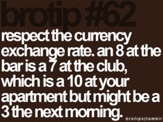 the currency exchange rate.