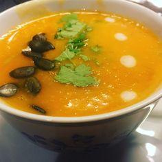 Søtpotetsuppe m/ kokosmelk og red curry