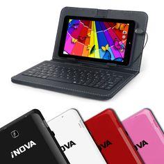 "iNova 7"" Tablet w/Keyboard Case - Android 4.4 KitKat Wi-Fi Quad Core Dual Camera #iNova"