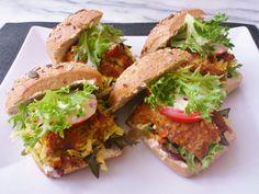 Homemade curry hummus tofu burger! #vegan #organic #glutenfree #dairyfree #healthyeating #food #yummy