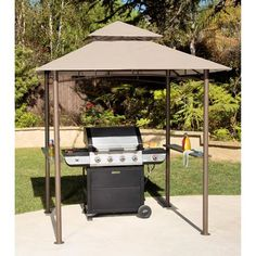 Canopy outdoor deck patio backyard lawn gazebo shelter bbq grill patio baronly 1 in stock order today!product description:this grill canopy uses a durable steel frame and polyester top. Grill Canopy, Grill Gazebo, Gazebo Plans, Gazebo Canopy, Gazebo Pergola, Backyard Canopy, Garden Canopy, Canopy Outdoor, Gazebo Ideas