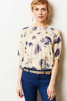 Cute top, but I am sick of wearing chiffon. Wishing there were more cotton tops.