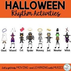Browse over 340 educational resources created by SING PLAY CREATE in the official Teachers Pay Teachers store. Preschool Music, Teaching Music, Halloween Music, Primary Music, Elementary Music, Music Classroom, Music Lessons, Music Education, Singing
