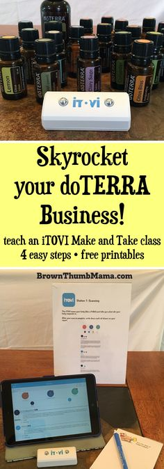 It's easy to teach a successful doTERRA iTOVI make and take class by following these 4 simple steps. Includes free printables!