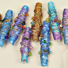 DIY Tutorial - Make Beautiful Metallic Beads Using  Recycled Tyvek Envelopes from the Post Office