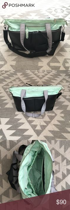 Lululemon Bag Lululemon bag perfect for the gym or yoga! Inside is clean and includes a separate pouch for wet clothes or dirty shoes. lululemon athletica Bags