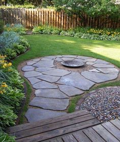 Numerous homeowners are looking for small backyard patio design ideas. Those designs are going to be needed when you have a patio in the backyard. Many houses have vast backyard and one of the best ways to occupy the yard… Continue Reading → Small Backyard Landscaping, Fire Pit Backyard, Backyard Designs, Landscaping Tips, Backyard Pavers, Flagstone Patio, Deck With Fire Pit, Desert Backyard, Patio Stone