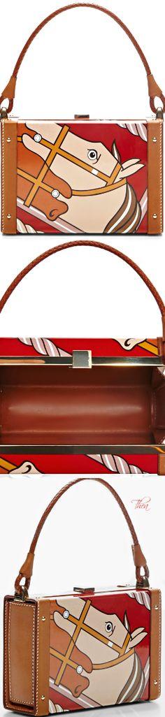 af399705eb34 Vintage Hermes ○ Red  amp  Multi Enamel Limited Runway Edition Clutch Hermes  Bags