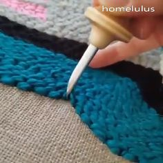 Diy Home Crafts, Diy Arts And Crafts, Sewing Crafts, Crochet Projects, Sewing Projects, Hand Embroidery Stitches, Punch Needle, Rug Hooking, Leather Craft